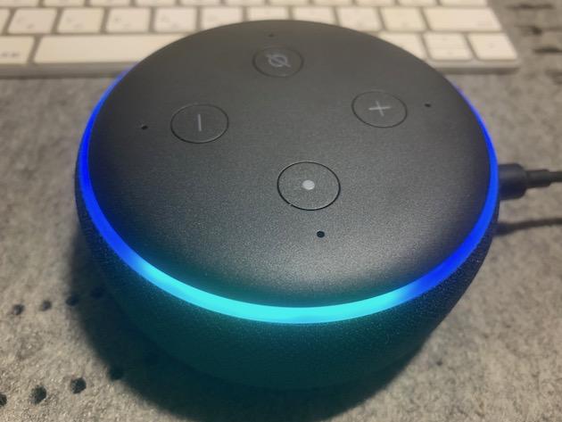 Echoが青色に点灯している
