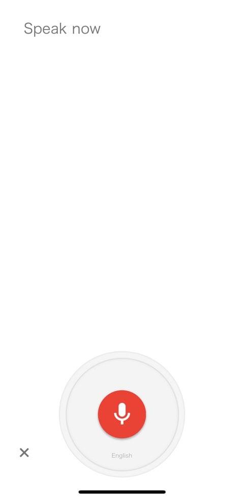 Google翻訳アプリの「声」での翻訳画面